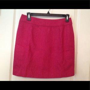 H&M Hot Pink Herringbone Mini Skirt